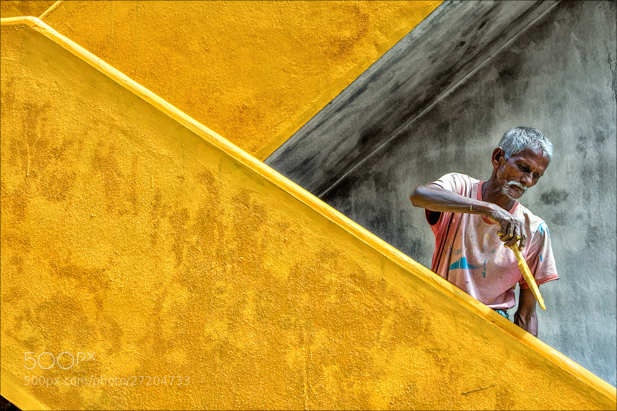Photograph The Painter by Henk oochappan on 500px