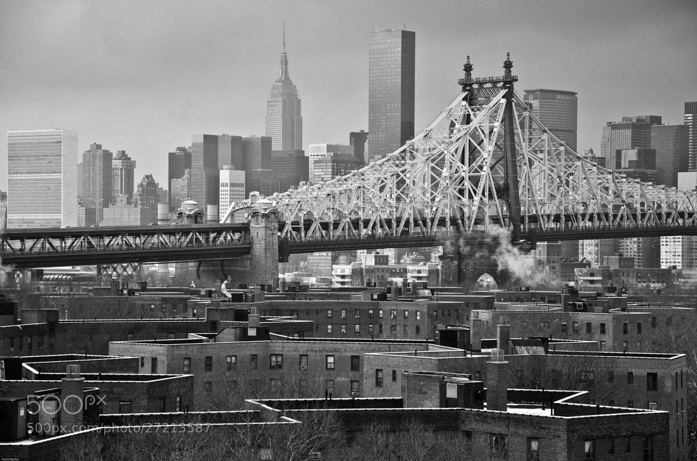 Photograph QB to Manhattan ... B&w Morning time by Nabil BACHIR-CHERIF on 500px