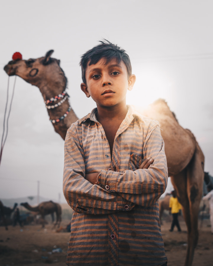 Portrait in Pushkar INDIA in the camel festival by Younes MCHICHE on 500px.com