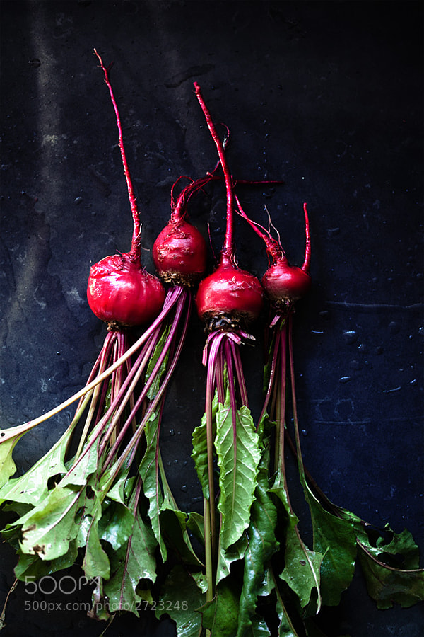 simple natural light shot of some beets from the yard.