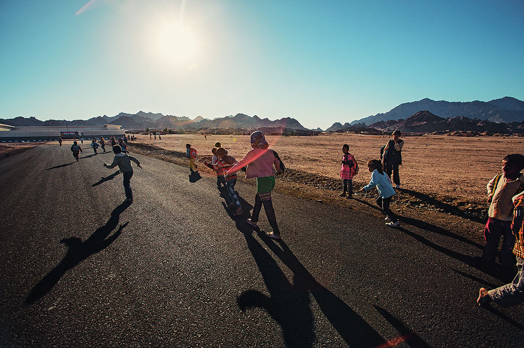 Photograph Bedouin Children Running to School by Ludmila Yilmaz on 500px