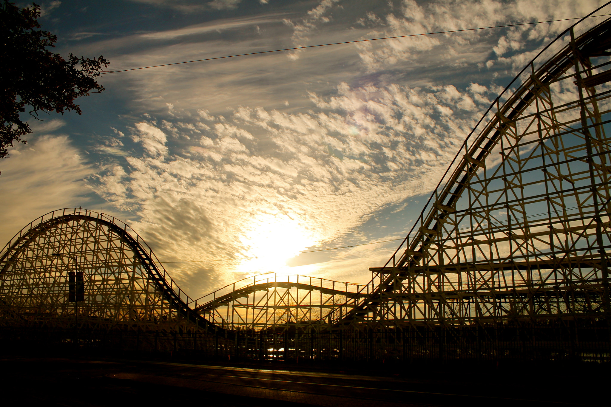 Photograph Roller Coaster Sunset by Janice Marie on 500px