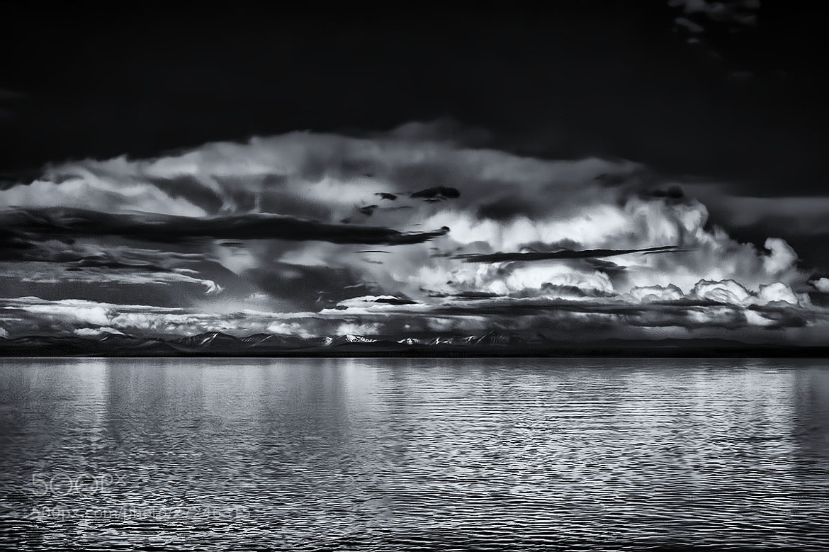 Photograph Clouds Over Yellowstone Lake - B&W by Sharon Smith on 500px