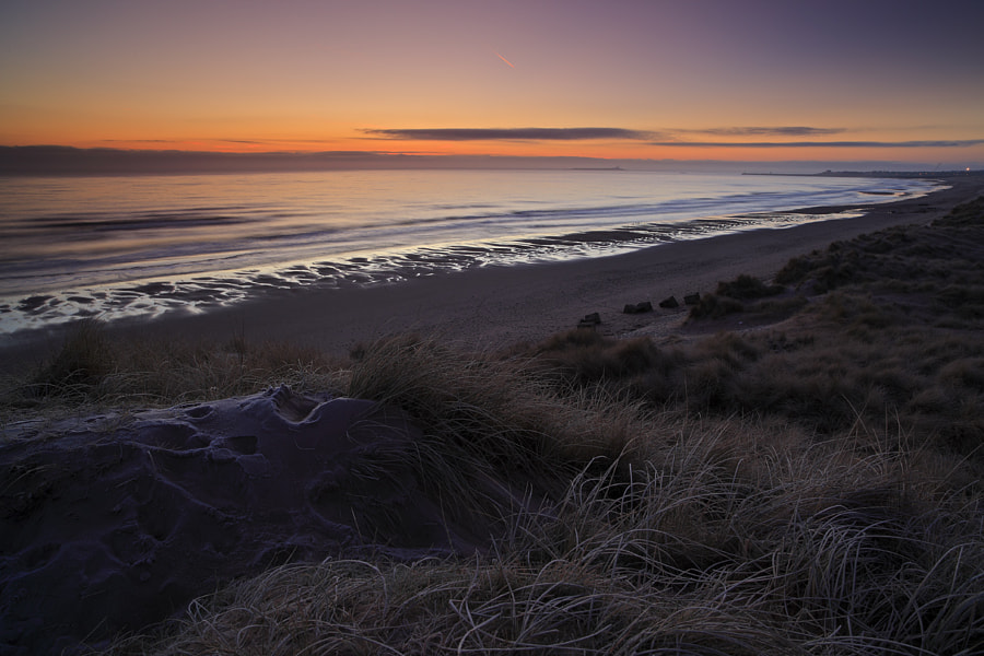 Before sunrise, Warkworth Beach