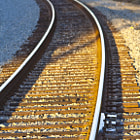 Amtrak railroad track in Summerland, California.