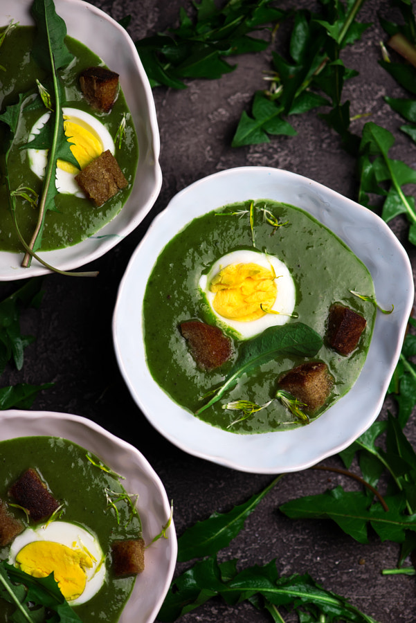 CREAMY WILD GARLIC SOUP WITH DANDELION LEAVES by ?????? ??????? on 500px.com