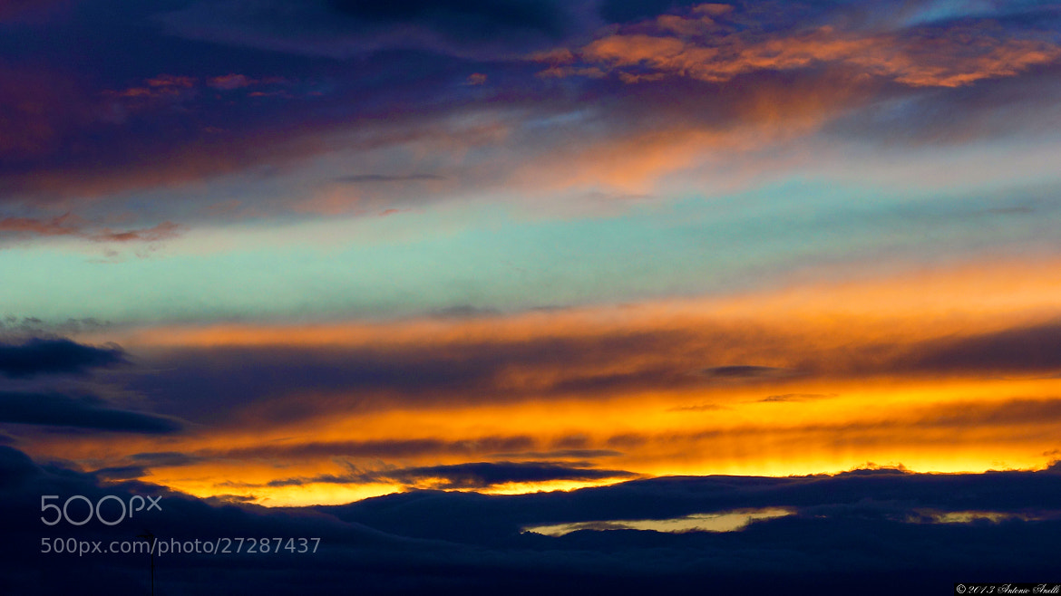 "Photograph ""On fire"" sunset by Antonio Anelli on 500px"