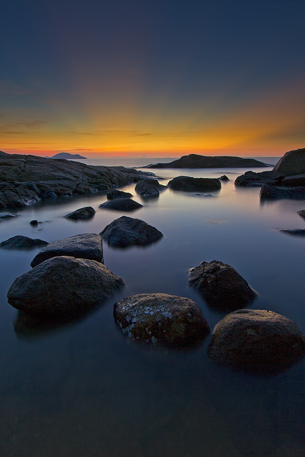 Photograph stone and light rays by Erwin Julian Lie on 500px