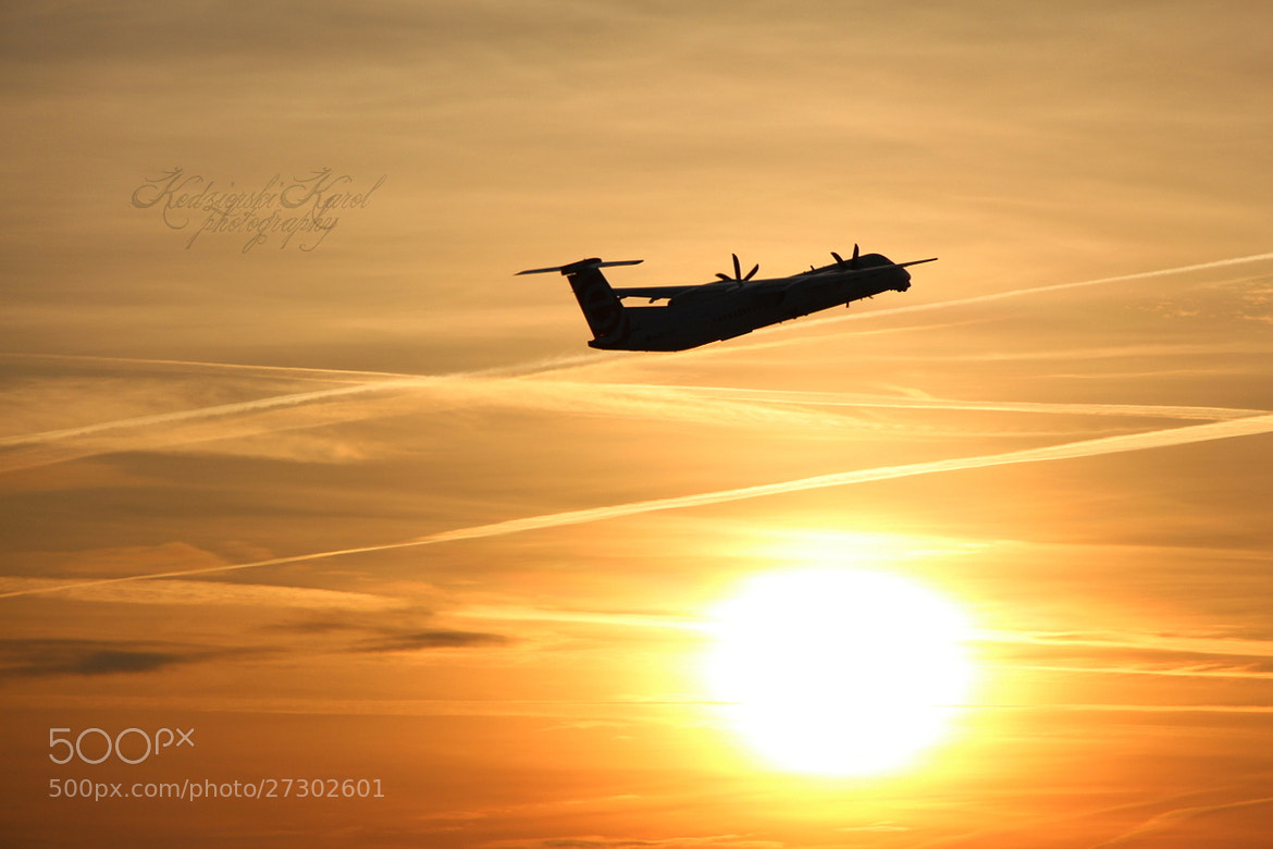 Photograph Sun set at GDN Airport by Karol Kędzierski on 500px