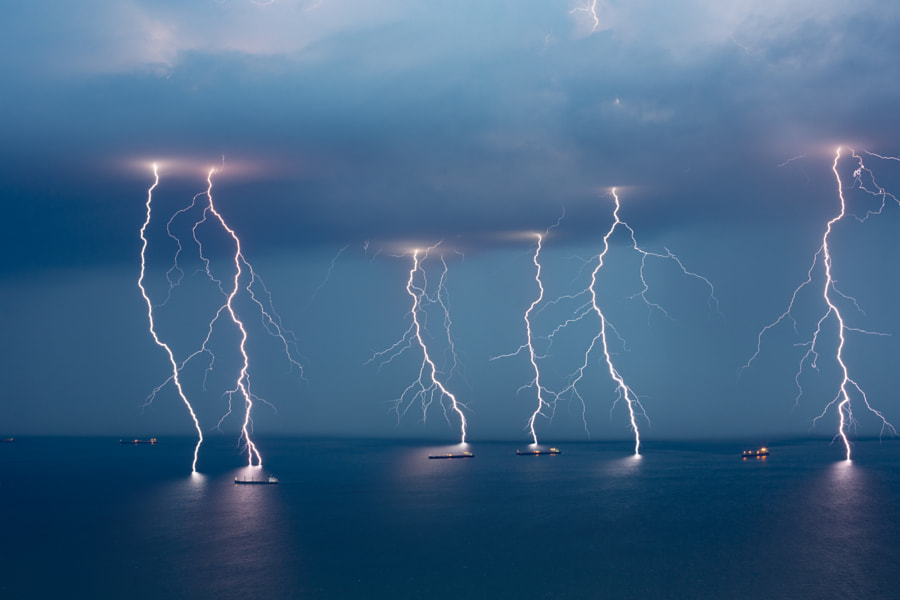 Sea Lightning by Jure Batagelj on 500px.com