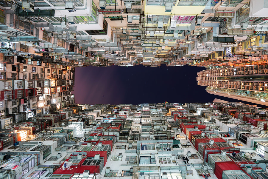 Hong Kong city residences area. Low angle view image of a crowde by Prasit Rodphan on 500px.com