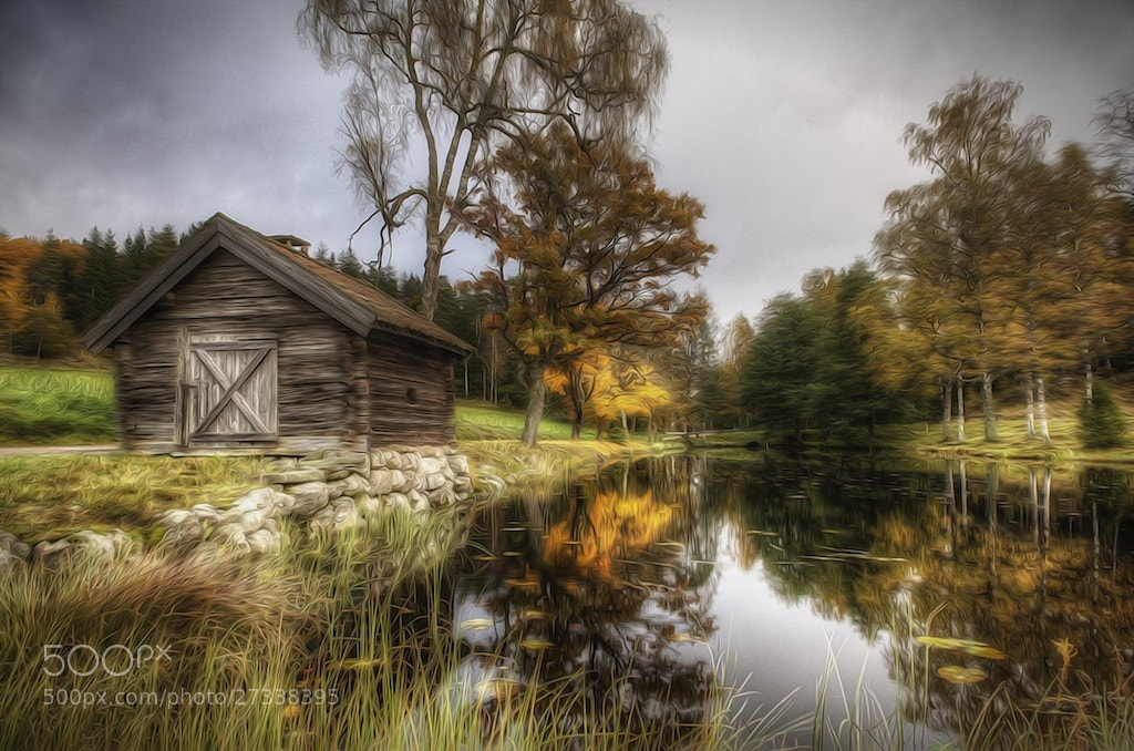 Photograph Cottage by the pond by Linus Englund on 500px