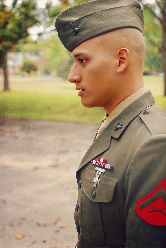 Photograph a Marine in uniform by Jennifer Blake on 500px