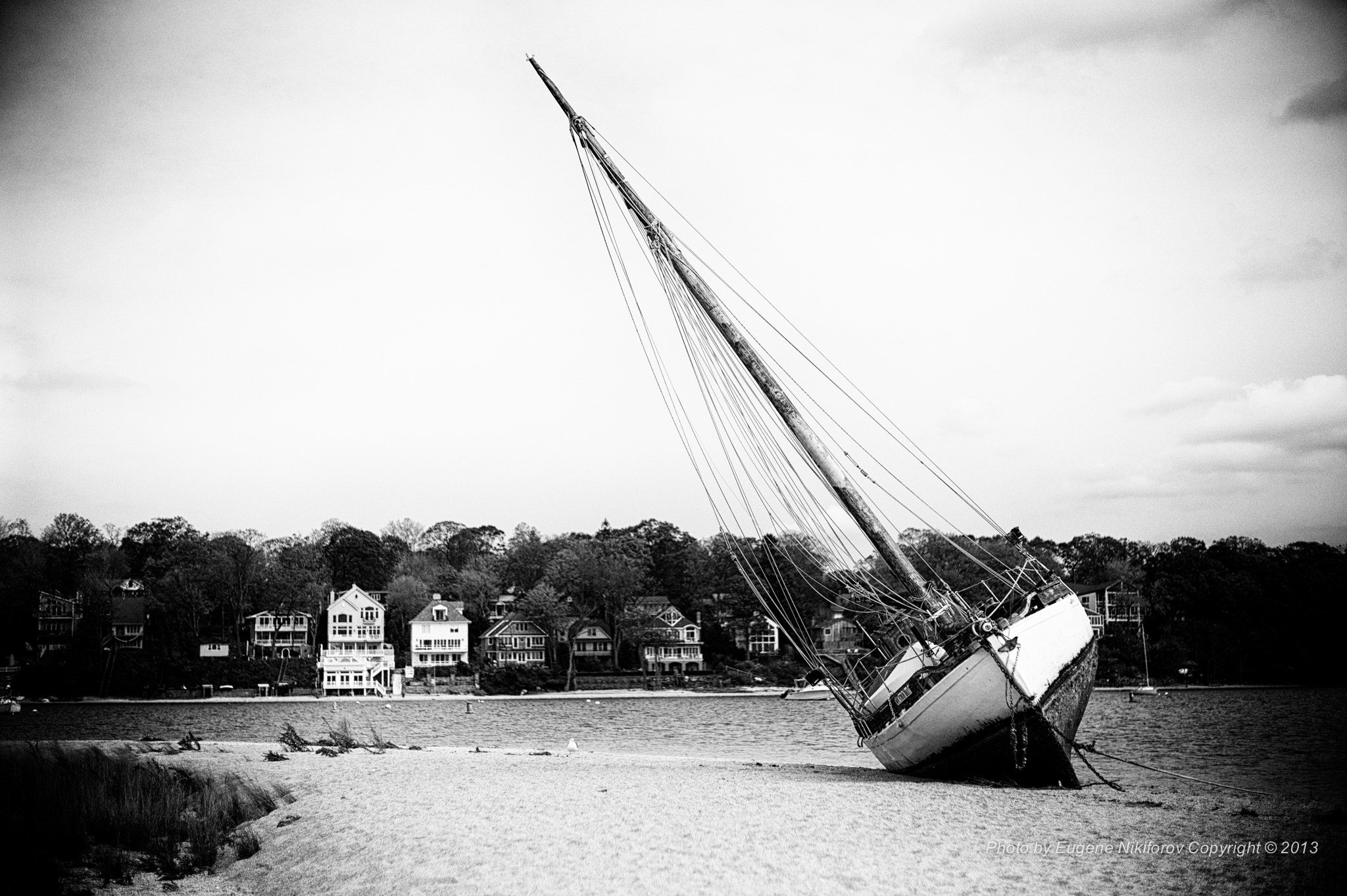 Photograph Boat on the shore after Hurricane Sandy (Long Island) by Eugene Nikiforov on 500px