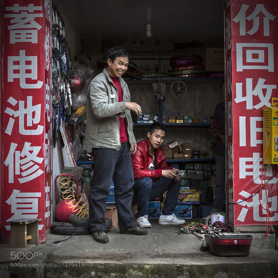 Photograph The Scooter Mechanics by Michael Steverson on 500px