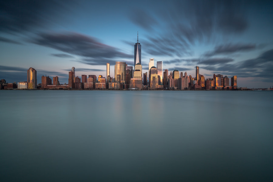 Downtown manhattan view during sunset by Andriy Stefanyshyn on 500px.com