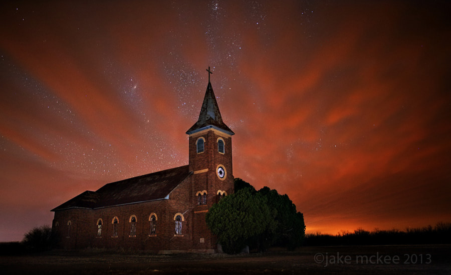Photograph Night falls at St John by Jake  McKee on 500px