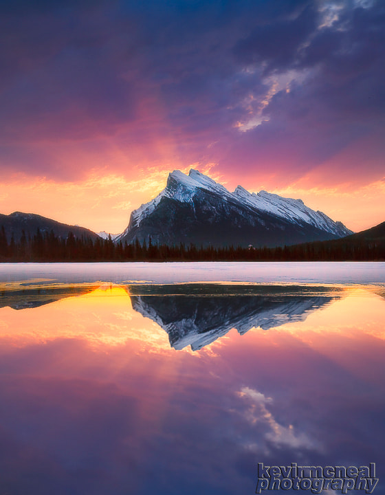Photograph Mount Rundle Sunrise Banff NP by Kevin McNeal on 500px