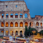 Colosseum, blue hour, Rome, Italy,