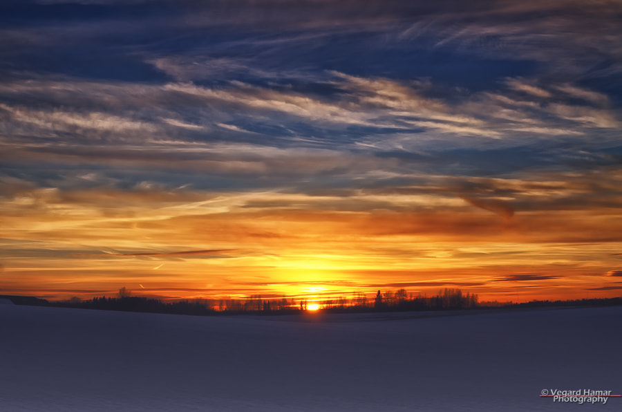 Photograph Sunset and snow by Vegard Hamar on 500px
