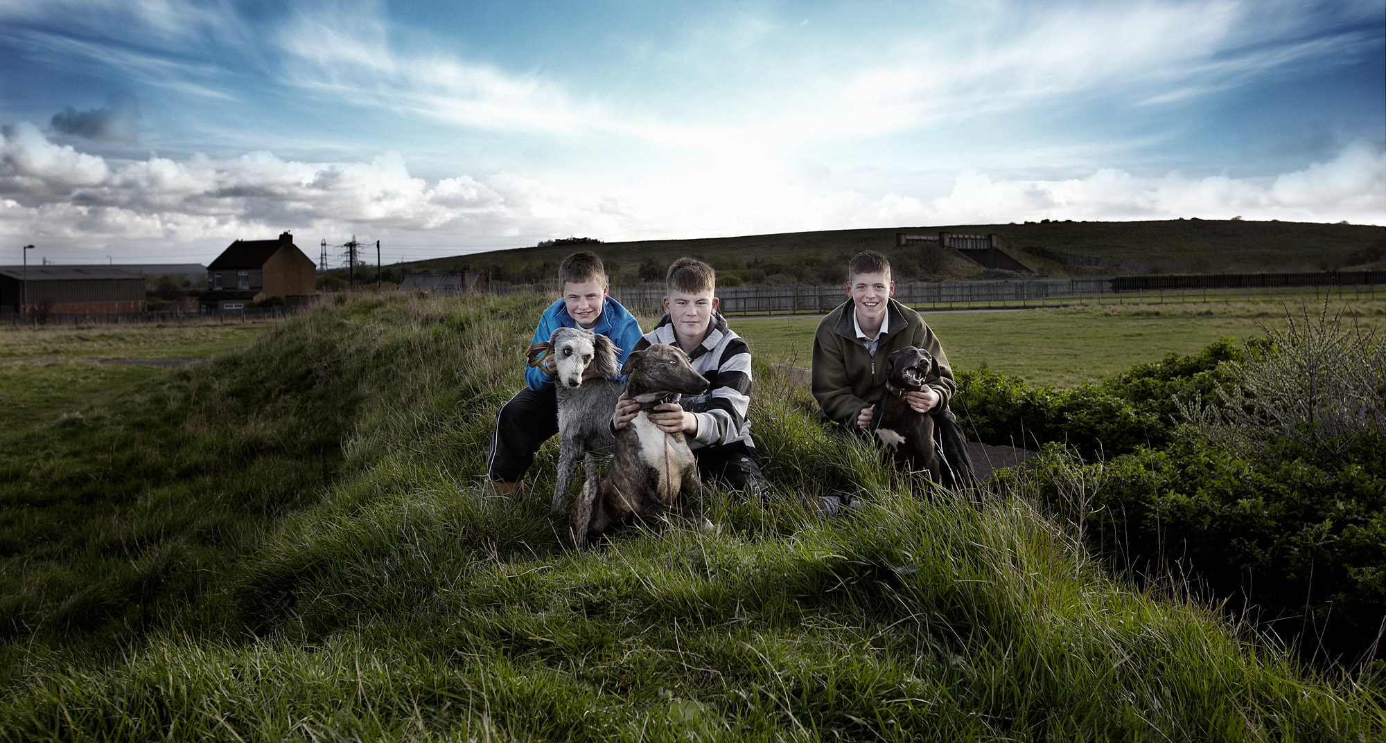 Photograph 3 Lads & Their Dogs by Adrian Hanlon on 500px