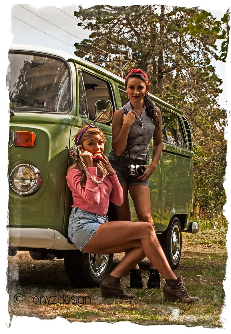 Photograph Volkswagen and pin up girls by Anthony Zuñiga on 500px