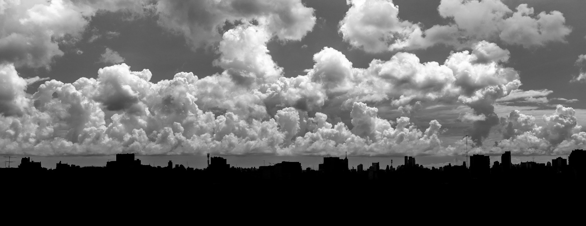 Photograph Buenos Aires Skyline with stormy weather by Martin Balo on 500px