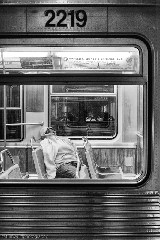 Photograph Night Passengers on The Blue Line by Tatum Wulff on 500px