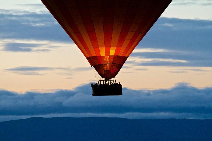 Maasai Balloon in the Morning