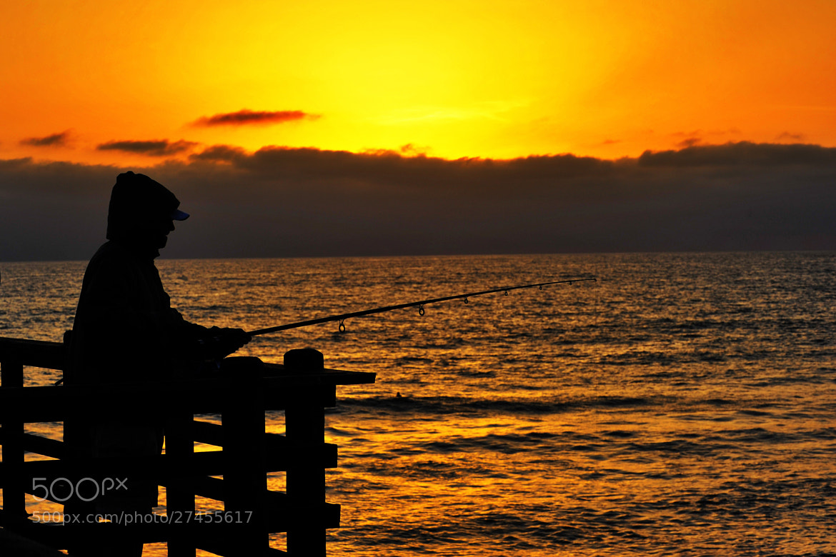 Photograph fisherman on the oceanside pier march 4 2013 for Oceanside pier fishing reports