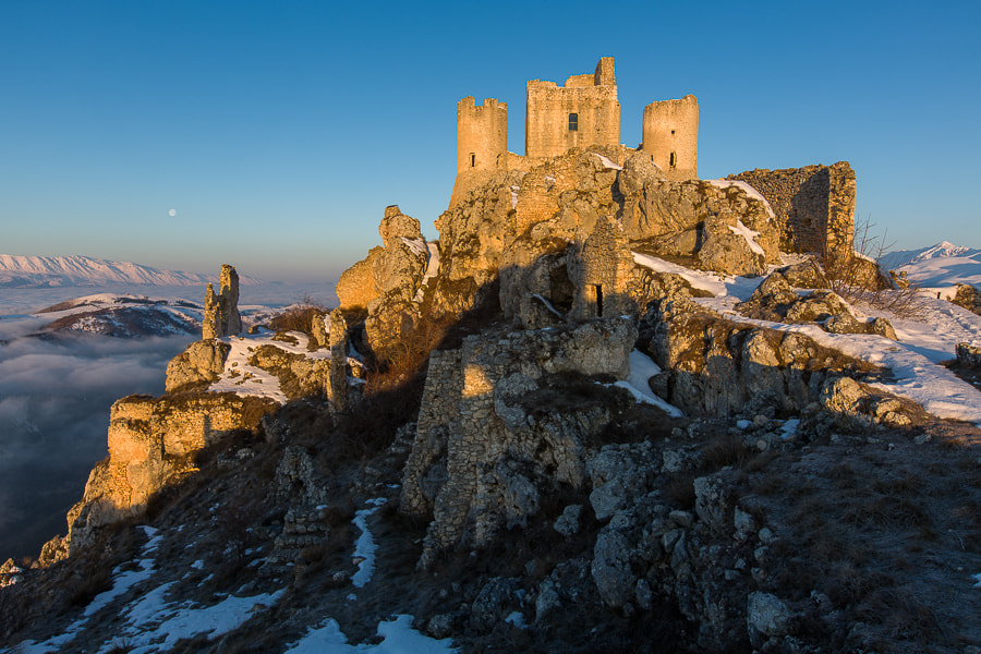 Photograph The Castle at Rocca Calascio at Sunrise. by Hans Kruse on 500px
