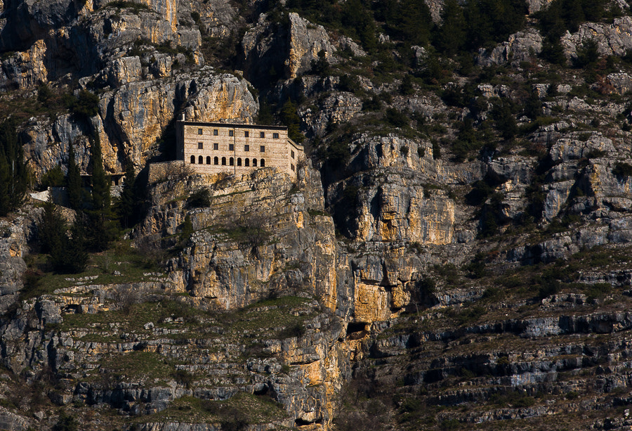 """Eremo di Celestino V, chiuso dal 2009, sul monte Morrone  <a href=""""http://www.hanskrusephotography.com/Landscapes/Abruzzo/13585309_QfrsNG#!i=2393918663&k=D373xLX"""">See a larger version here</a>  This photo was taken during research for a winter photo workshop in Abruzzo February 2013."""