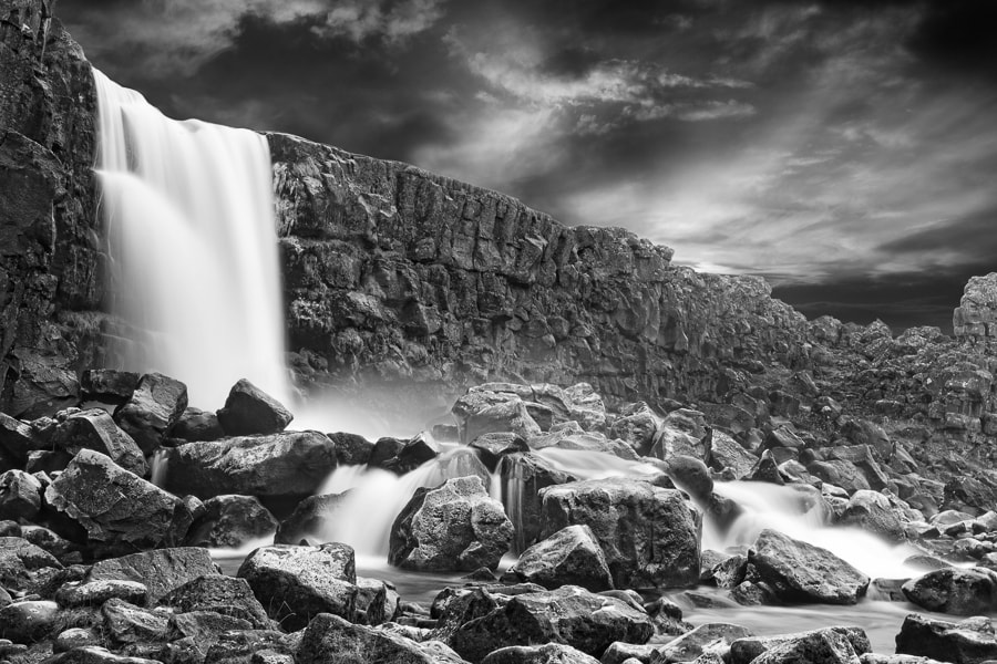Photograph Waterfall at Þingvellir by Manuel Irritier on 500px