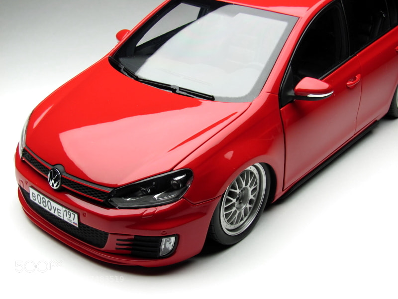 The unique model of Low  Volkswagen Golf Mk6 GTI from Moscow. Scale 1/18. Hand made.