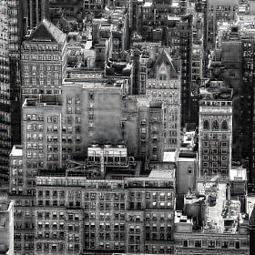 Manhattan view, reminiscent of days gone by