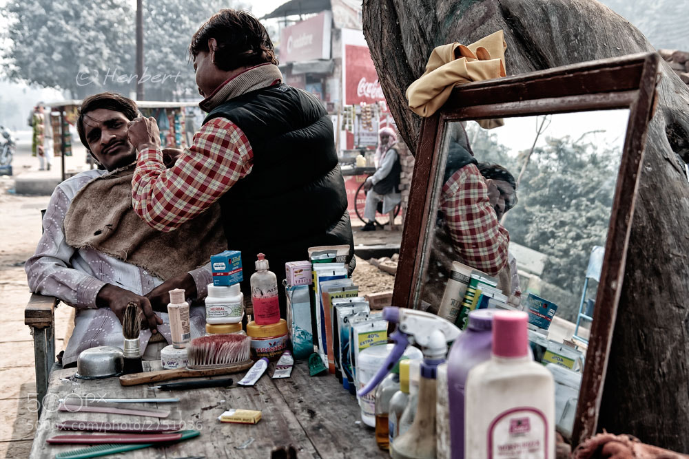 Photograph Barber, Srinagar by Herbert Wong on 500px
