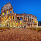 Colosseum in the blue hour