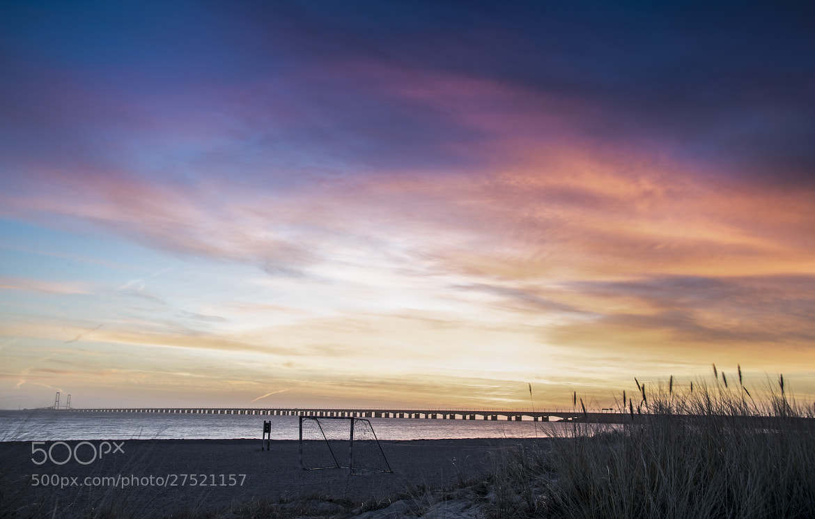 Photograph beach and goal and sunrise by Lars Zahner on 500px