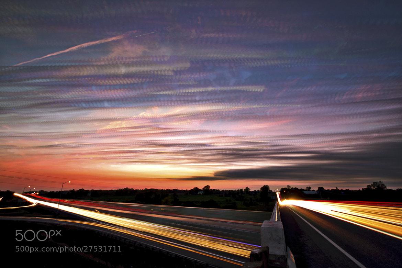 Photograph Light Speed Sunset by Matt Molloy on 500px