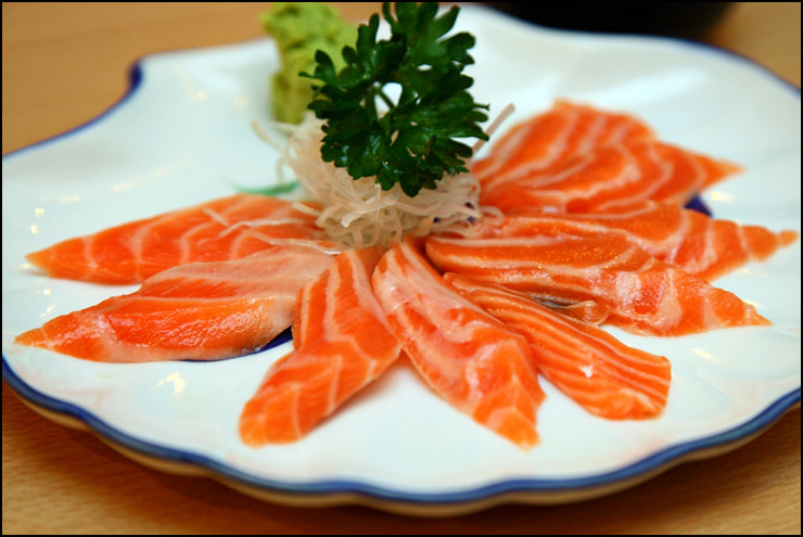 Salmon Belly Sashimi by vkeong on 500px.com