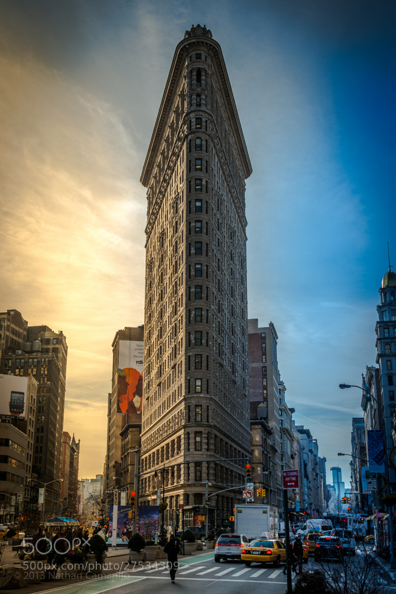 Photograph Flatiron (Color) Day to Dusk - NYC, NY by Nathan Camarillo on 500px