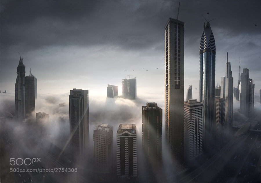 Dubai City. 12 shots merged together. It was an amazing morning!!