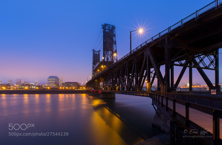 Photograph Steel Bridge, Cold Fog by Eric Vogt on 500px
