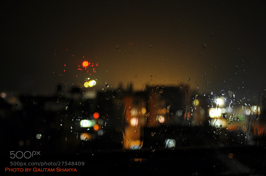Photograph Flowing drops of rain on window glass by Nepal I Love on 500px