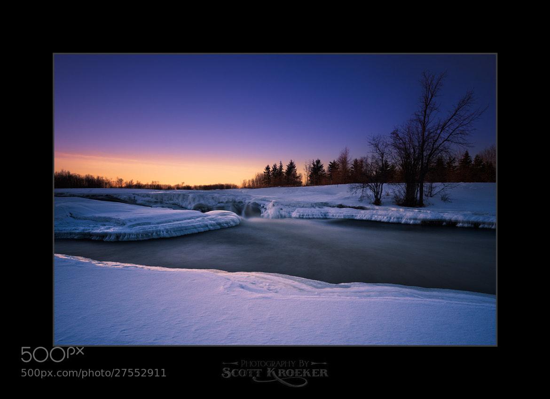 Photograph Wintery Sunset by Scott Kroeker on 500px