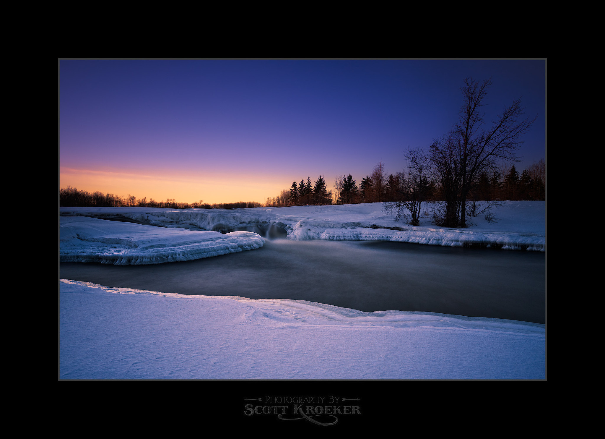Photograph Wintery Sunset by Scott Kroeker on 500px