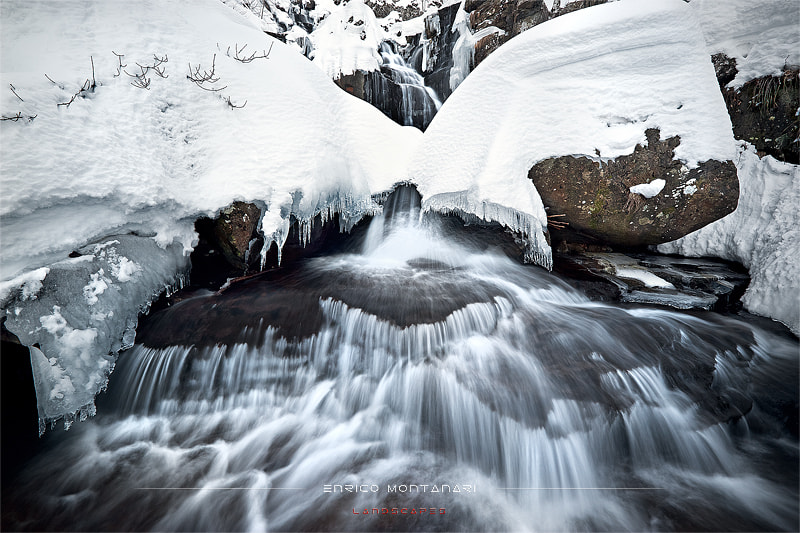 Photograph Winter waterfalls by Enrico Montanari on 500px
