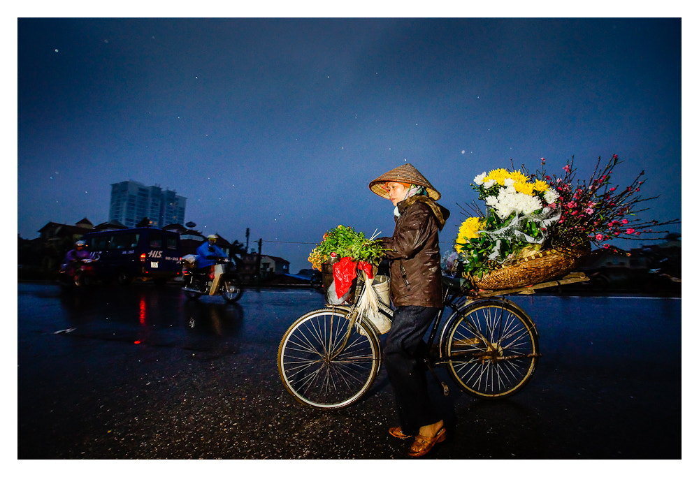 Photograph Bicycle Flower Vendor by Peter Pham on 500px