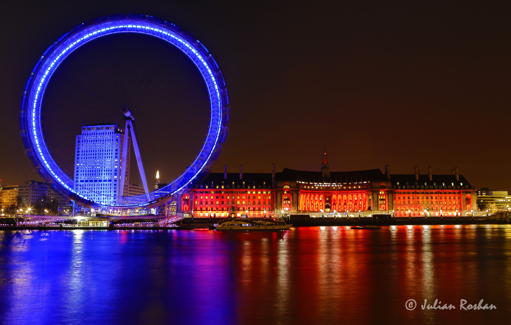 Photograph Vibrance of London at night by Julian Roshan on 500px