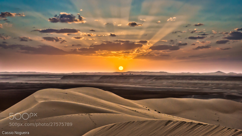 Photograph Desert Sunset by Cassio  Nogueira on 500px